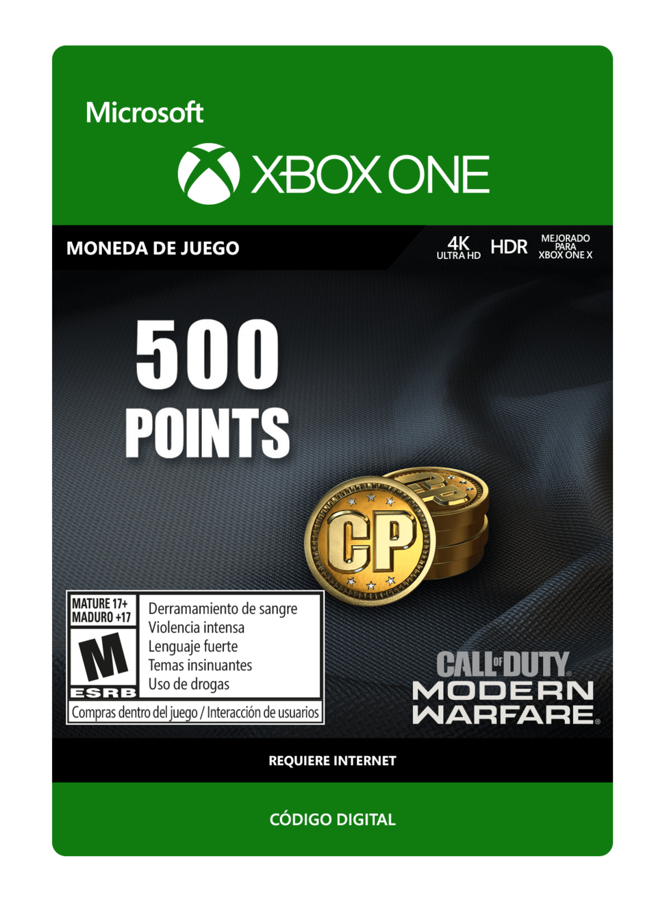 Call of Duty: Modern Warfare Points 500 Puntos