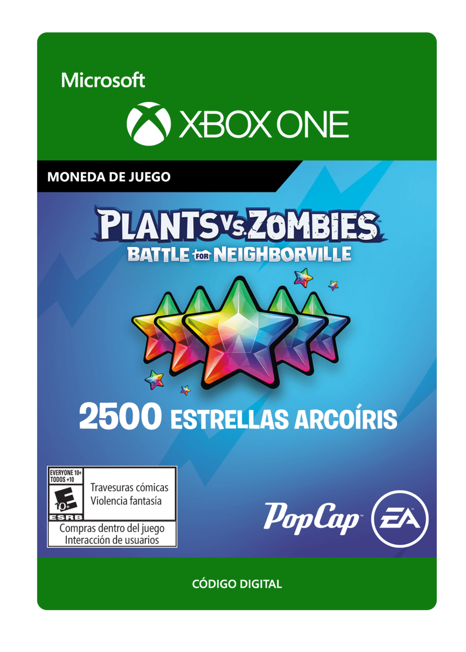 Plants vs. Zombies: Battle for Neighborville: 2500 Rainbow Stars Estrellas Arcoíris