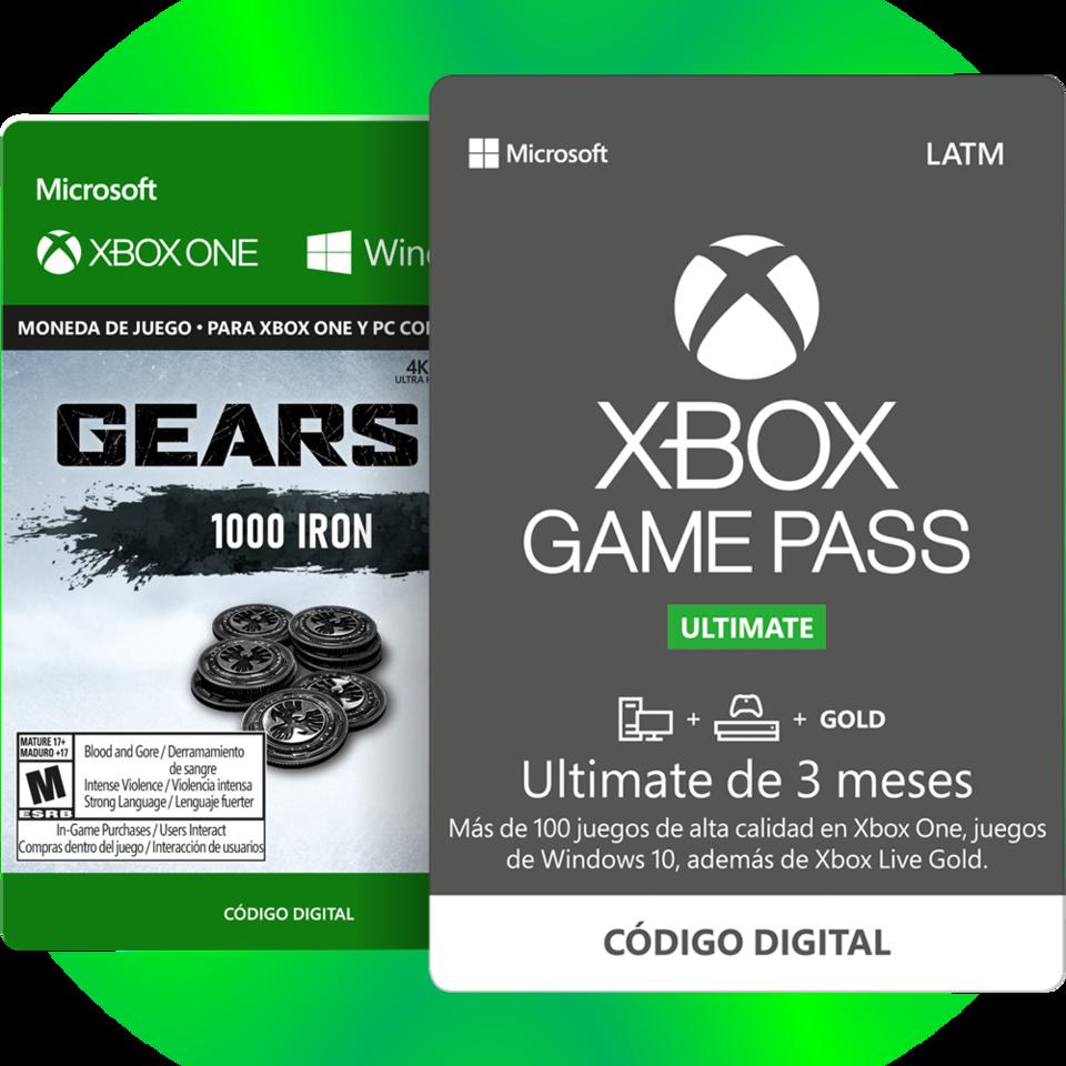 3 Meses de Xbox Game Pass Ultimate + 1000 Iron de Gear 5