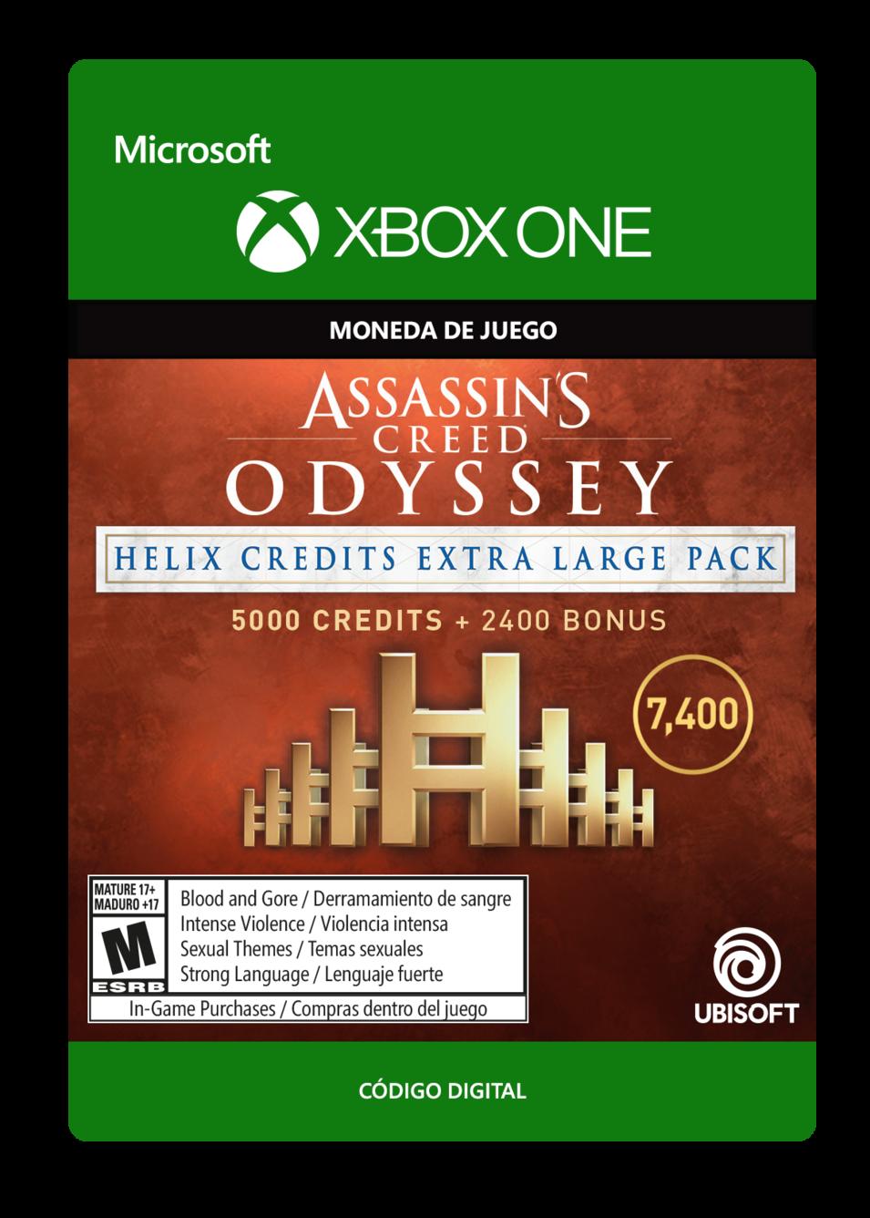 Assassin s Creed Odyssey - CRÉDITOS DE HELIX - PAQUETE EXTRA GRANDE 7400