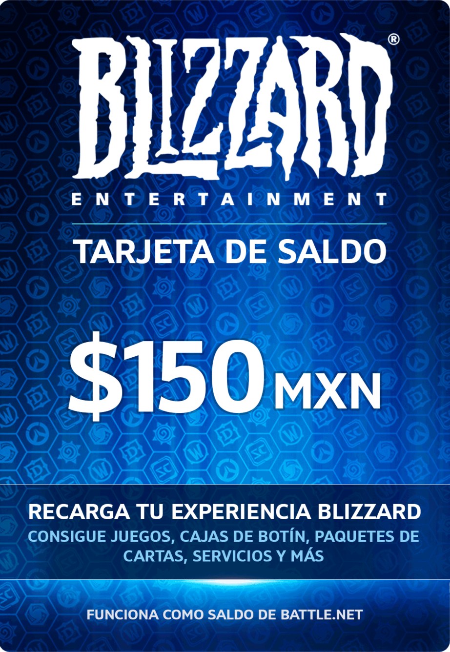 Saldo digital Blizzard $150 MXN