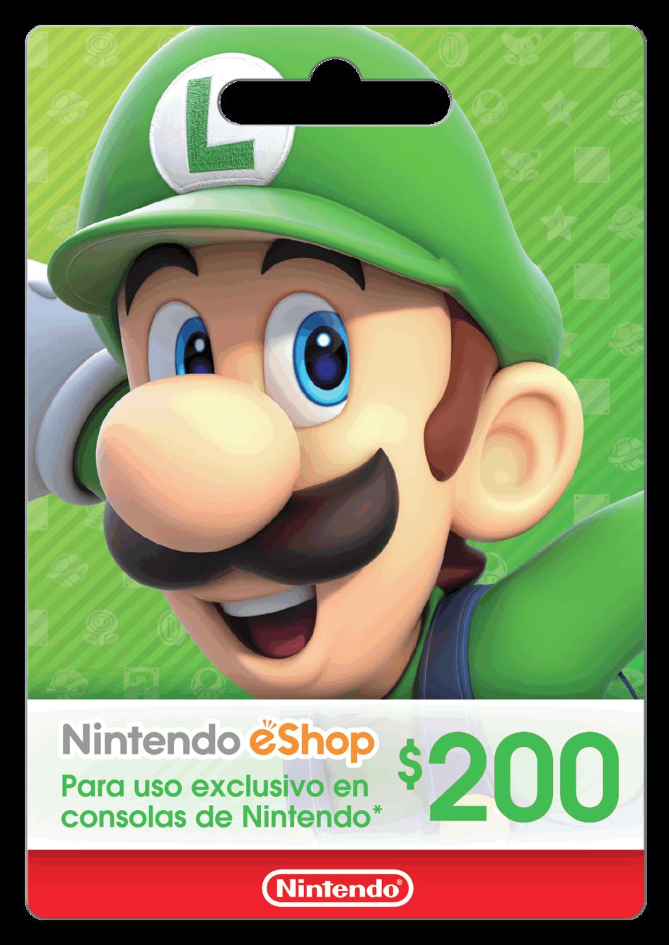 Saldo digital Nintendo eShop $200 MXN