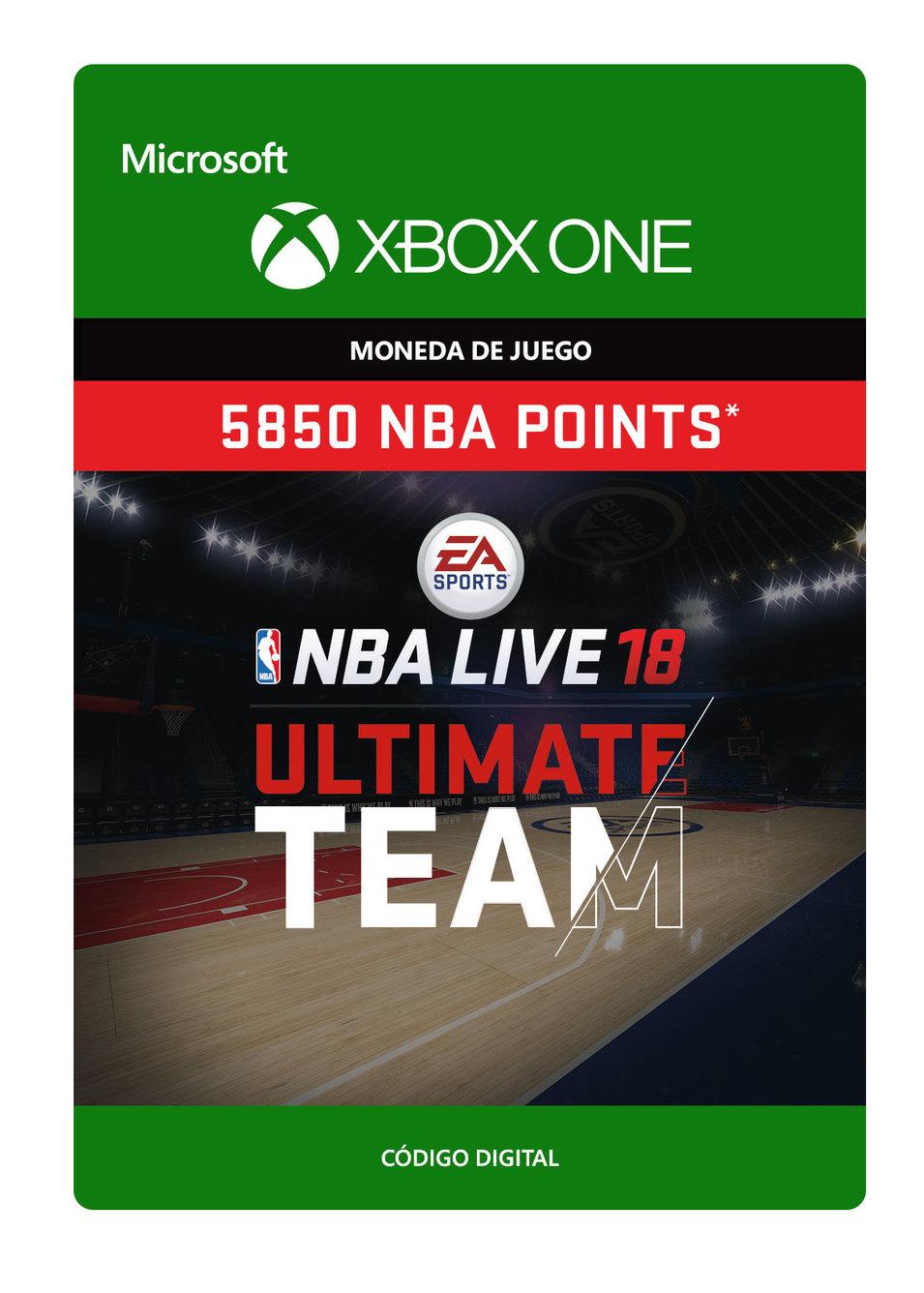 NBA Live 18: NBA Ut 5850 Points Pack