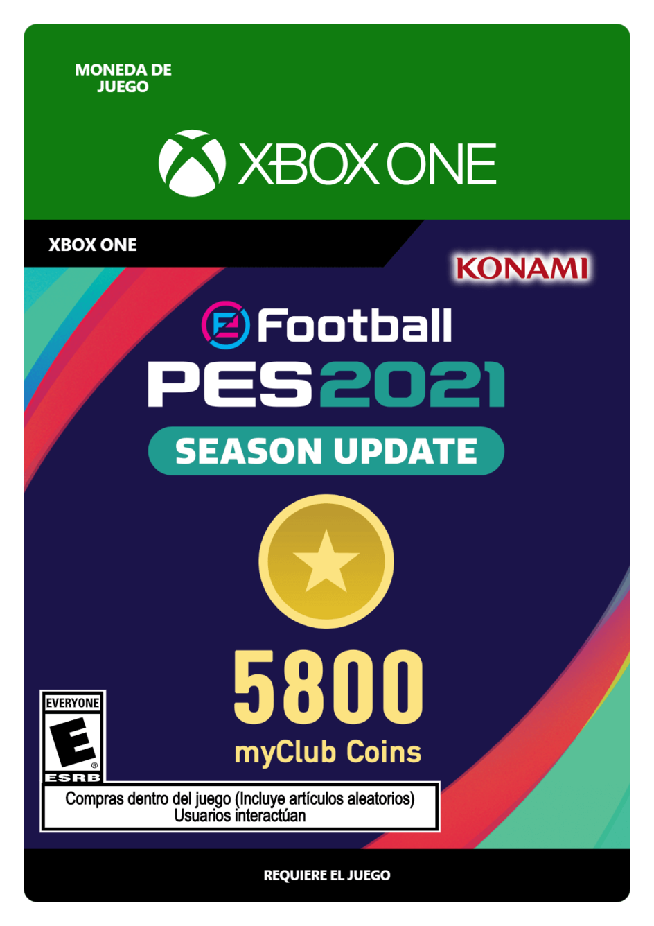 eFootball PES 2021 myClub coin 5800
