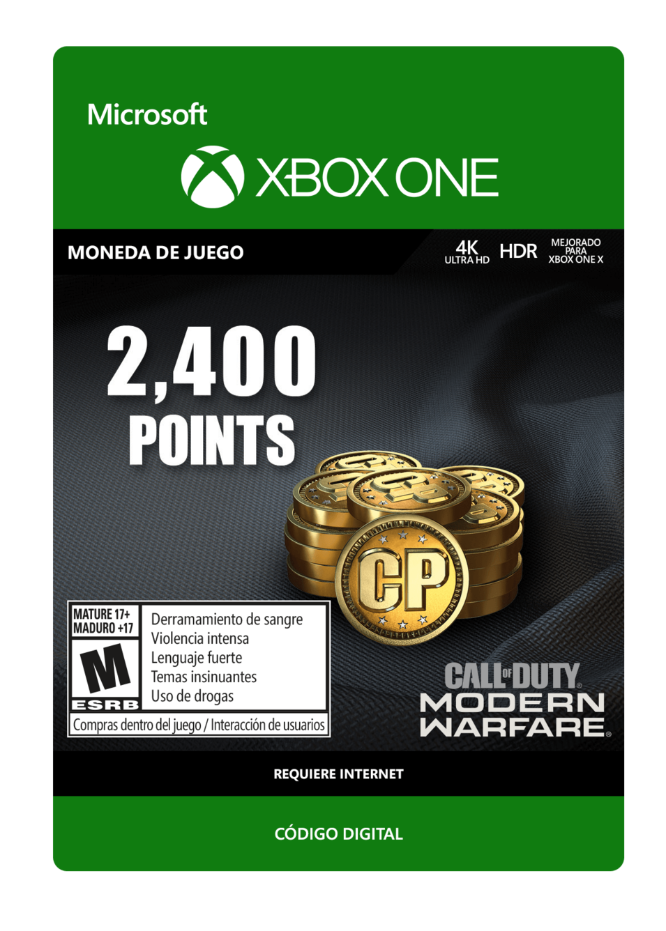 Call of Duty: Modern Warfare Points 2400 Puntos
