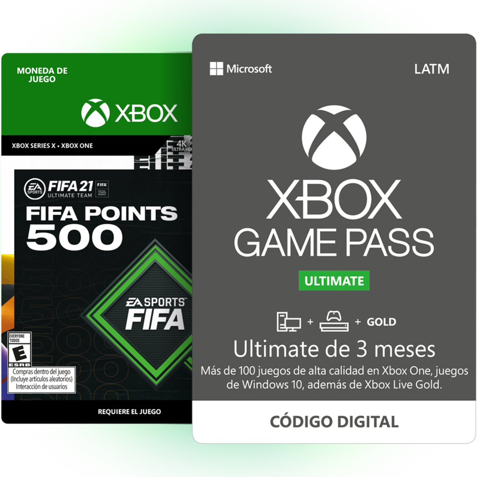 3 Meses de Xbox Game Pass Ultimate + FIFA 21 ULTIMATE TEAM POINTS 500 PUNTOS