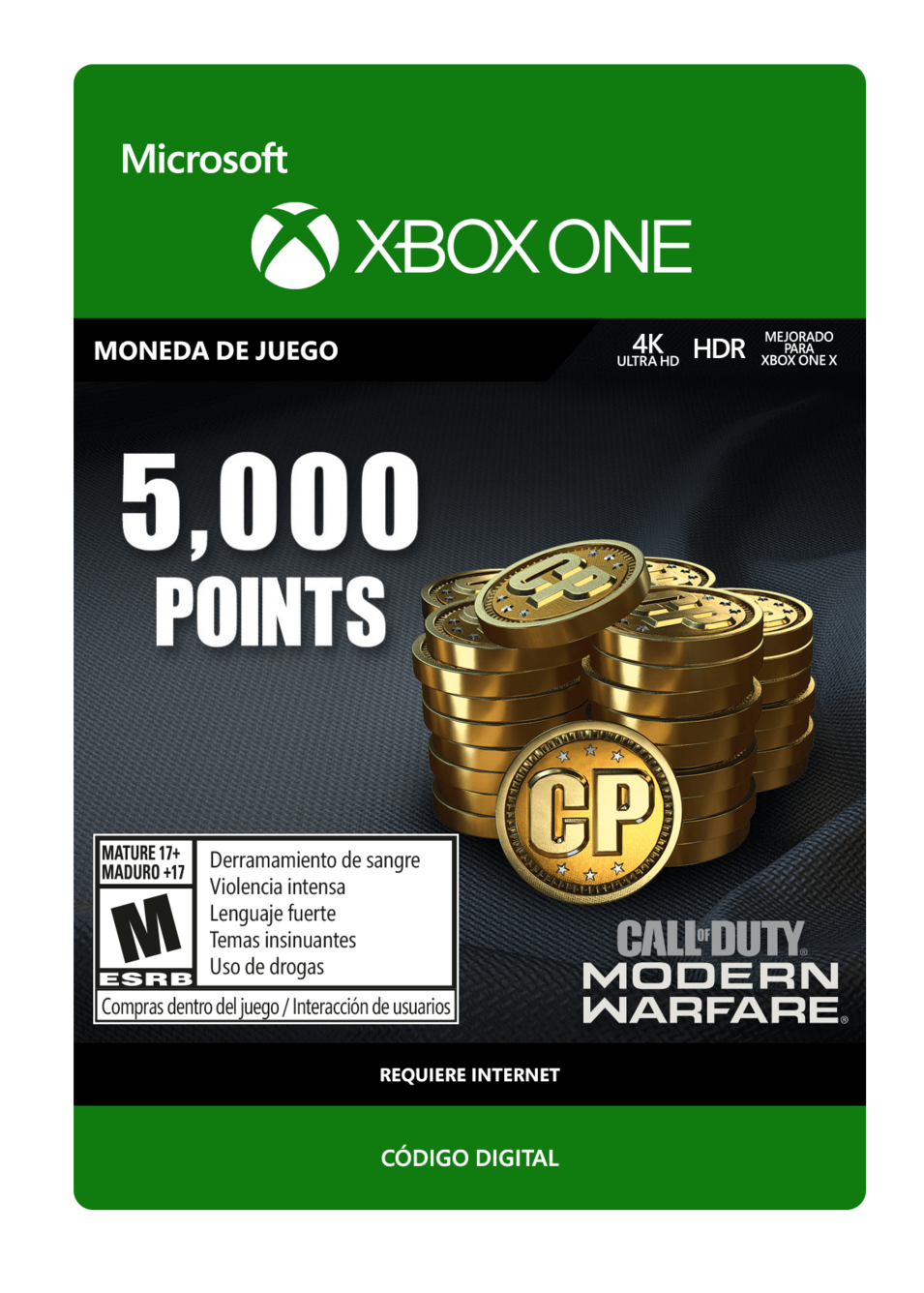 Call of Duty: Modern Warfare Points 5000 Puntos