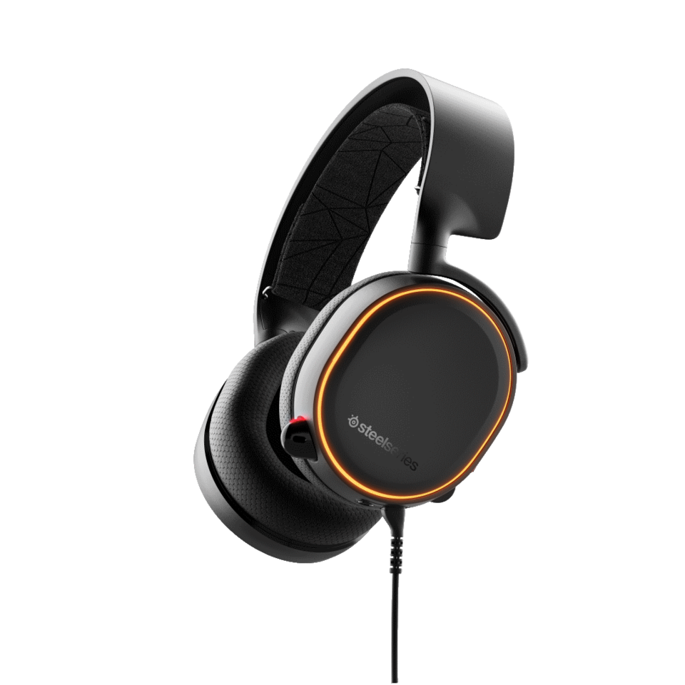 Audífonos Arctis 5 Black Wired Dts Headphone x V2.0  Pc And Play