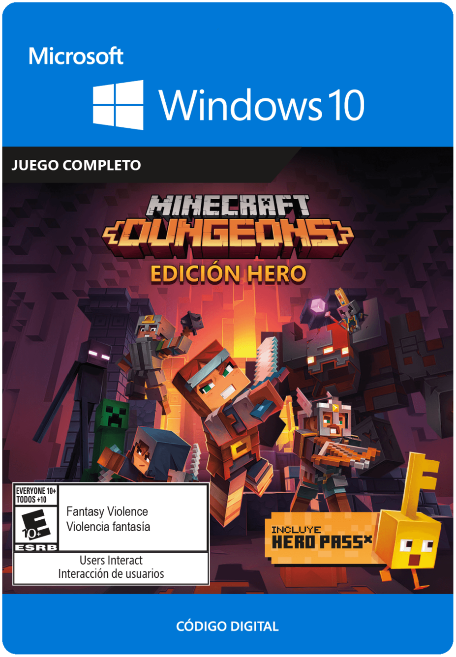 Minecraft Dungeons - Hero Edition - Windows 10