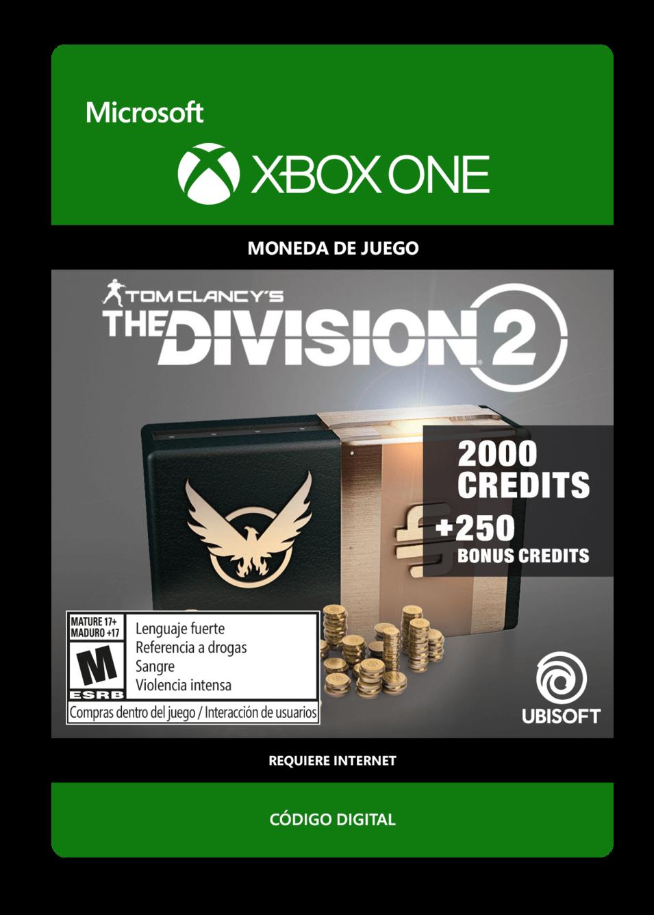 Tom Clancys The Division 2: 2250 Premium Credits Pack