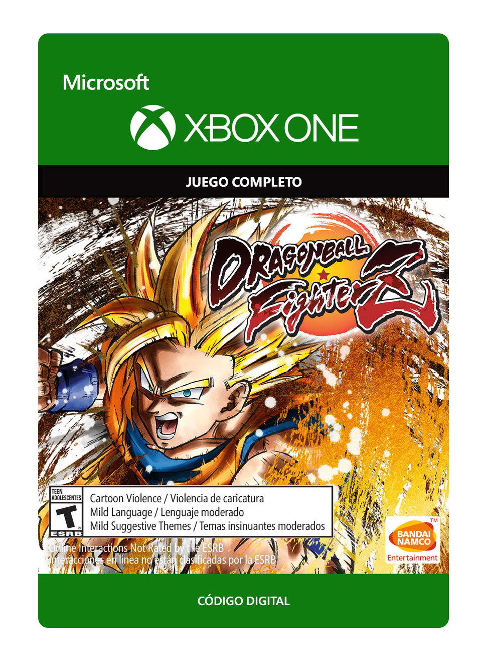 Dragon Ball Fighterz - Xbox One - Descarga - Esd