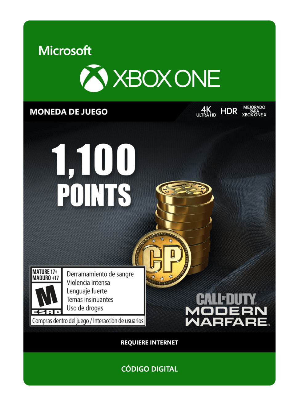 Call of Duty: Modern Warfare Points 1100 Puntos