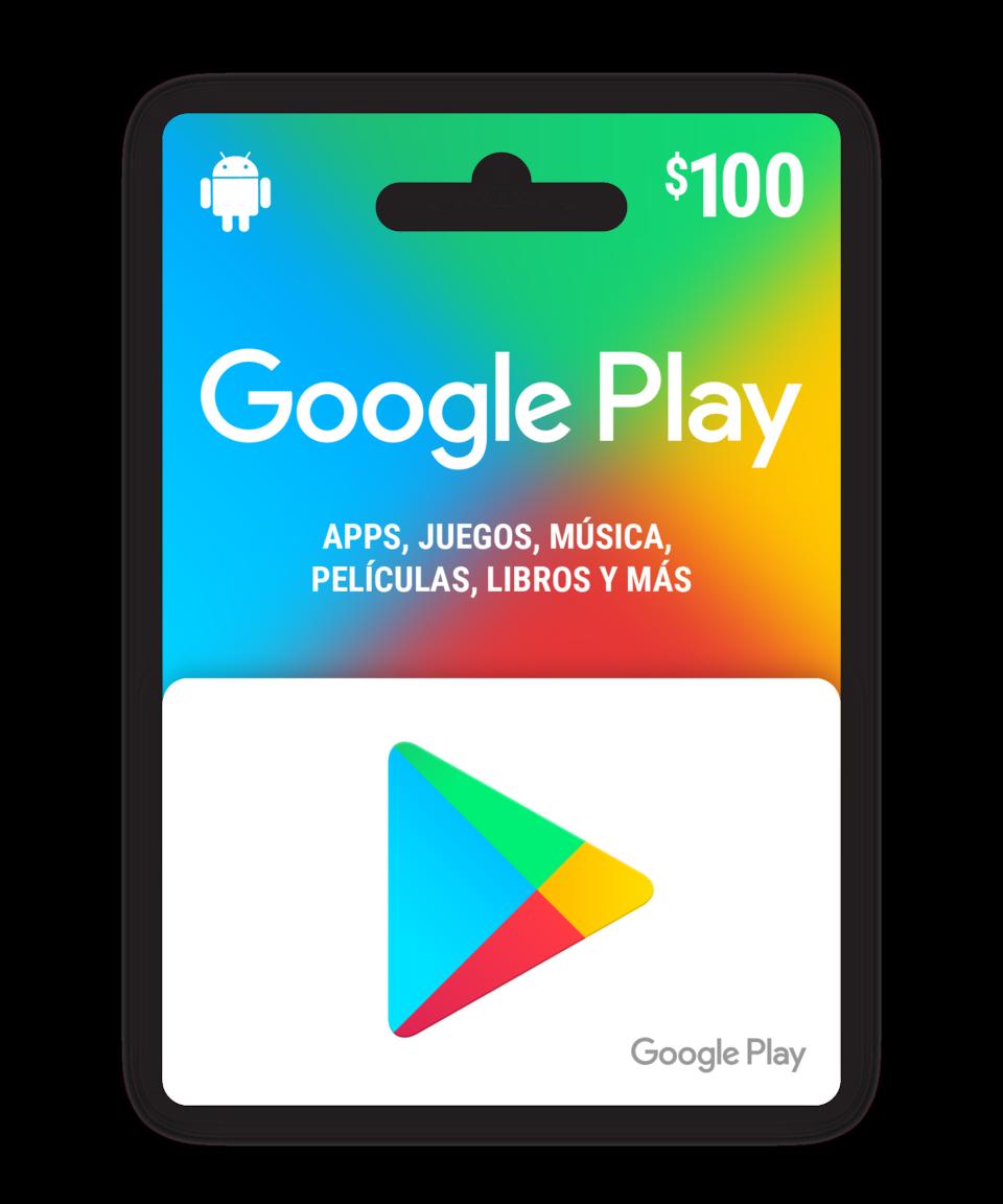 Saldo digital Google Play $100 MXN