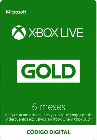 Xbox Live Gold 6 Meses