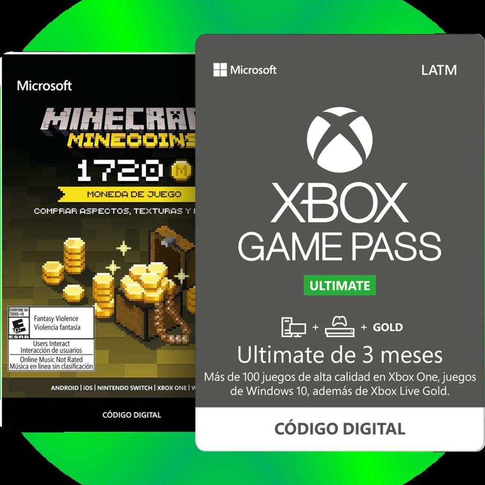 3 Meses de Xbox Game Pass Ultimate + 1720 Minecoins