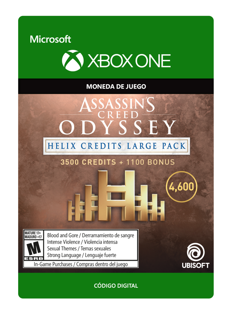 Assassin s Creed Odyssey - CRÉDITOS DE HELIX - PAQUETE GRANDE 4600