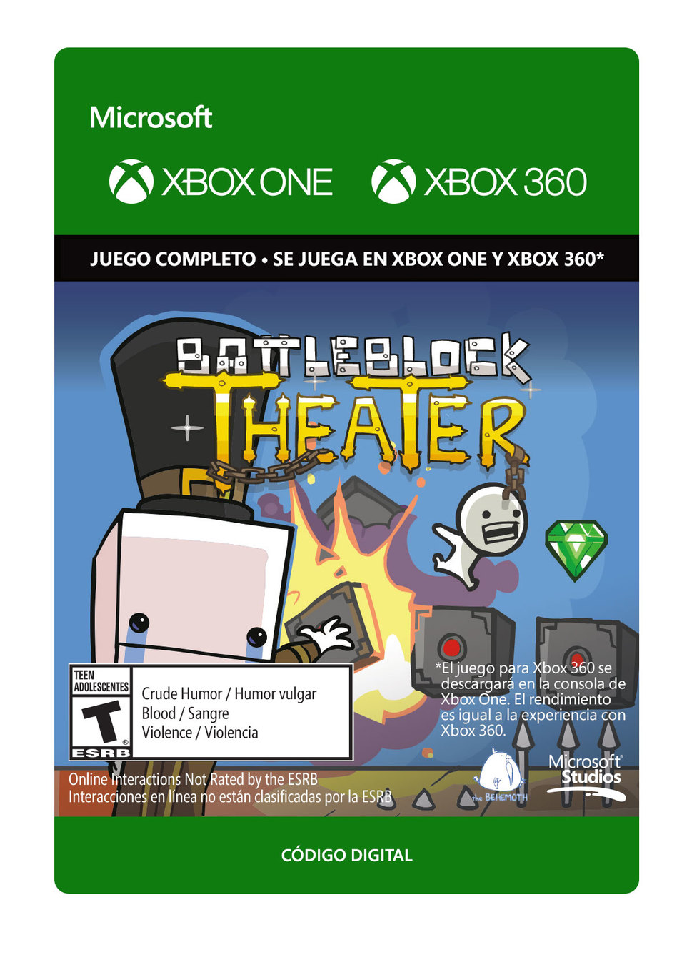 Battleblock Theater - Xbox 360, Xbox One - Descarga - Esd