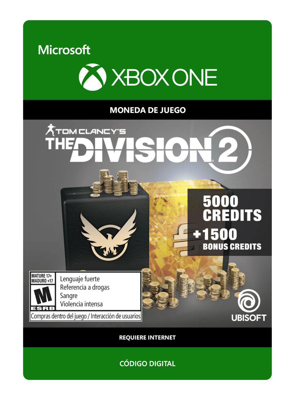 Tom Clancy s The Division 2: 6500 Premium Credits Pack