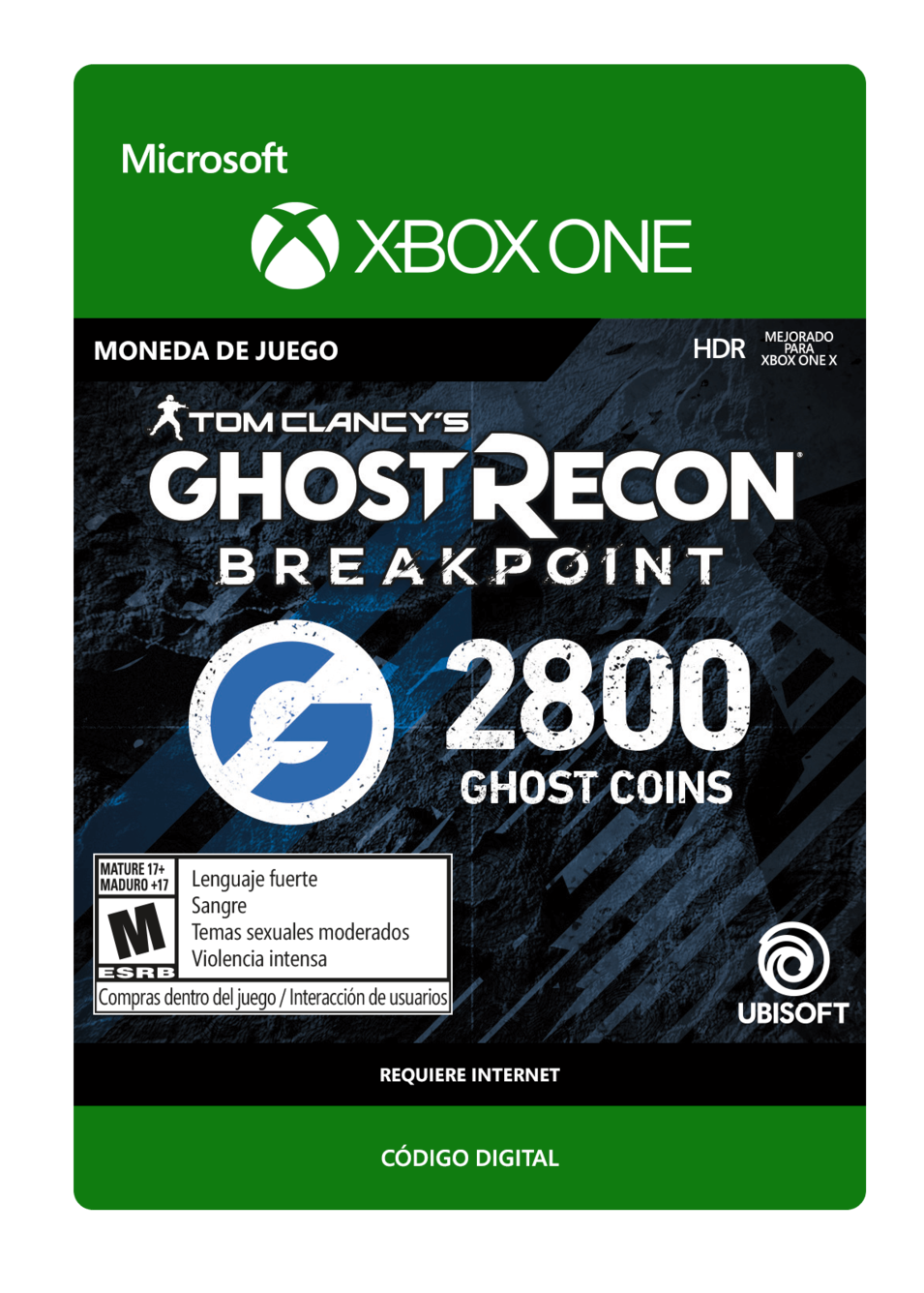 Tom Clancy s Ghost Recon Breakpoint 2800 Ghost coins