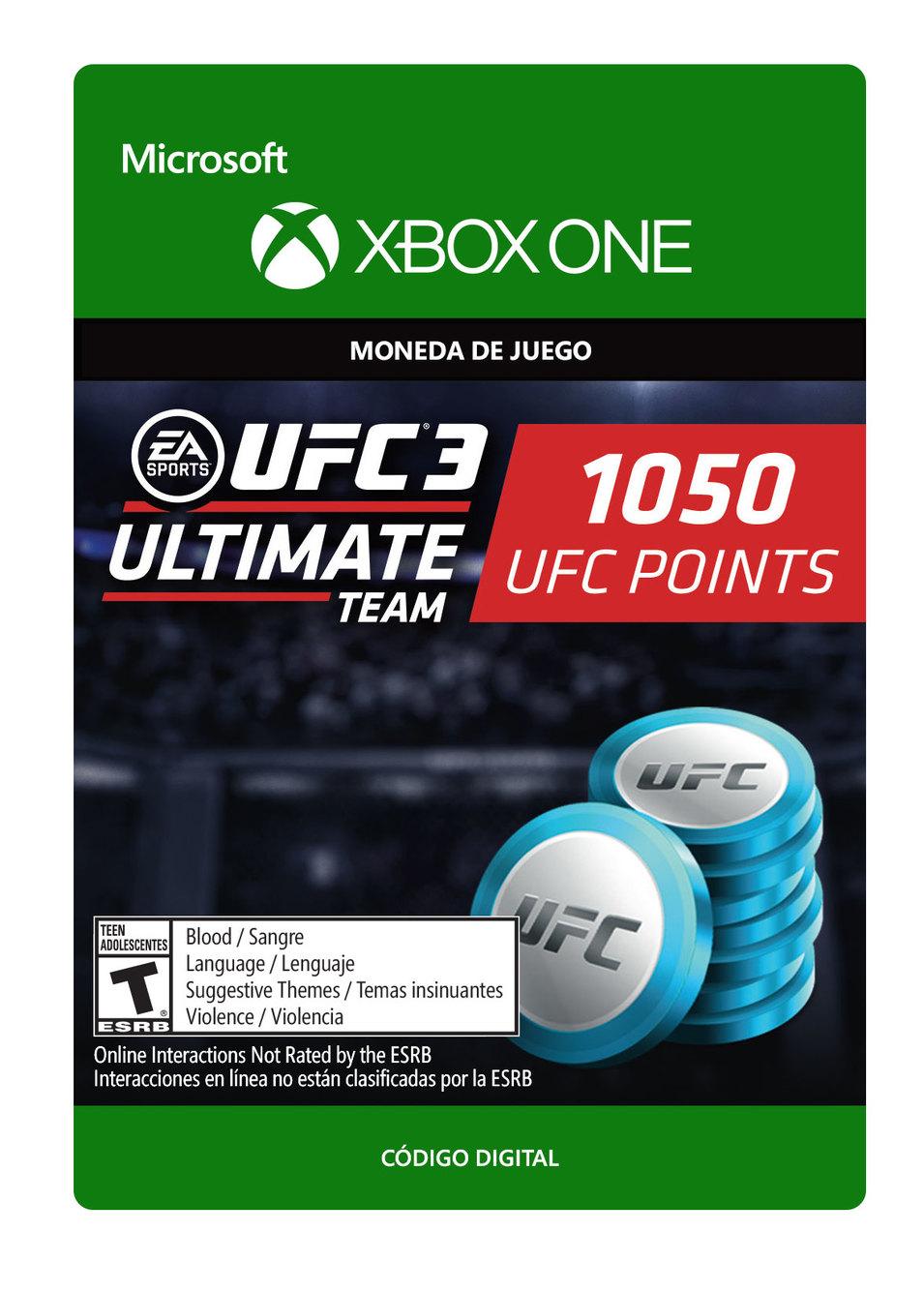 UFC 3 Paquete De 1050 Puntos