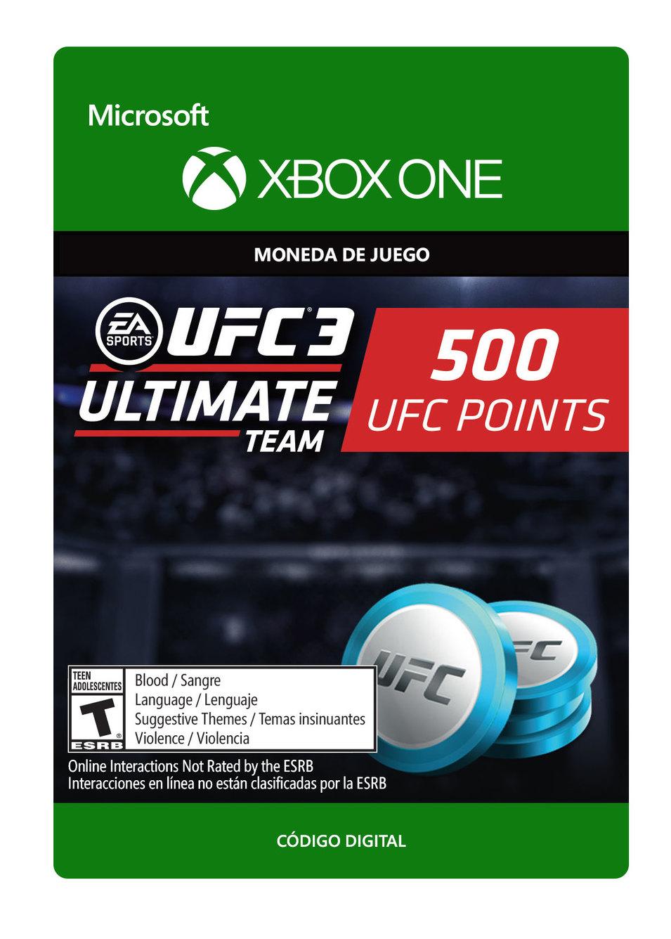 UFC 3 Paquete De 500 Puntos