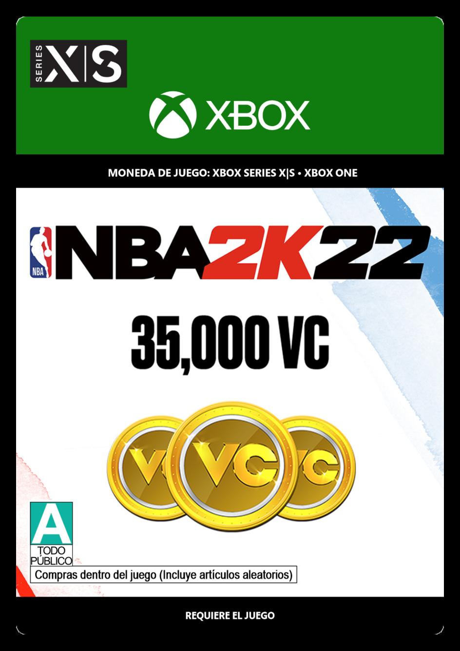 NBA 2K22: 35,000 VC