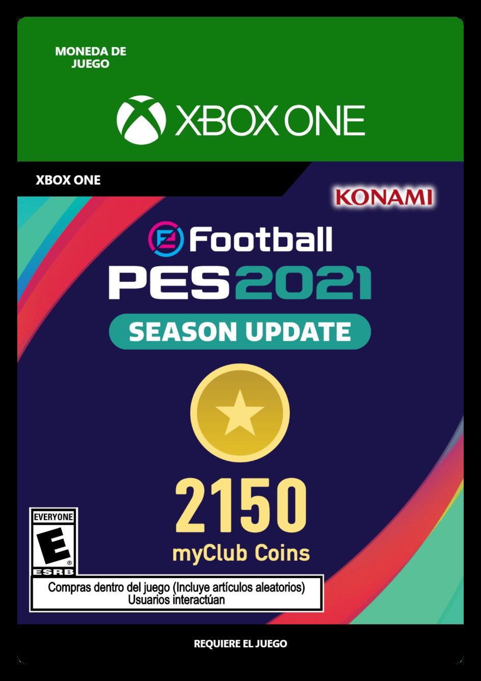 eFootball PES 2021 myClub coin 2150