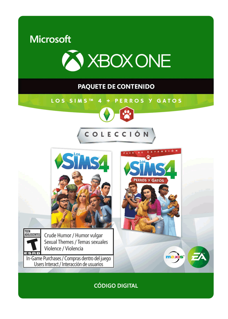 The Sims 4 plus Cats and Dogs  Sims 4 más Perros y Gatos