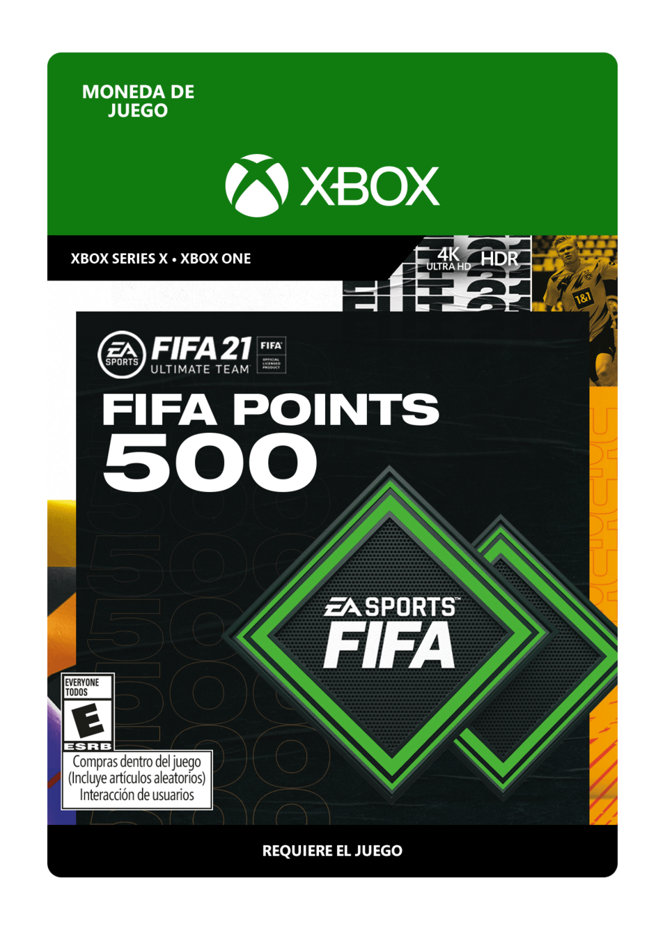 FIFA 21 Ultimate Team Points 500 Puntos