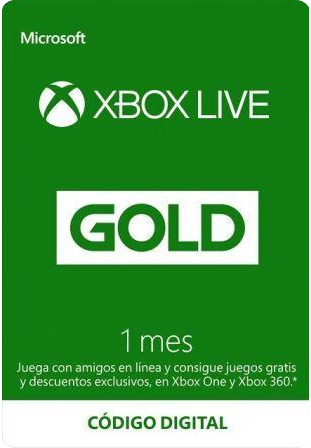 Xbox Live Gold 1 Mes
