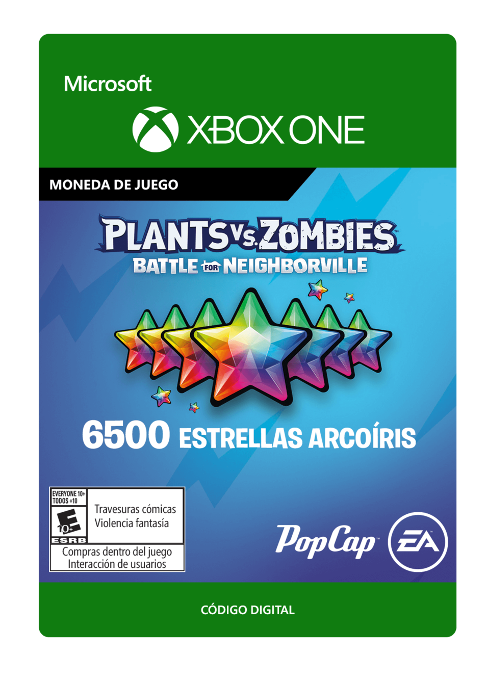 Plants vs. Zombies: Battle for Neighborville: 6500 Rainbow Stars Estrellas Arcoíris