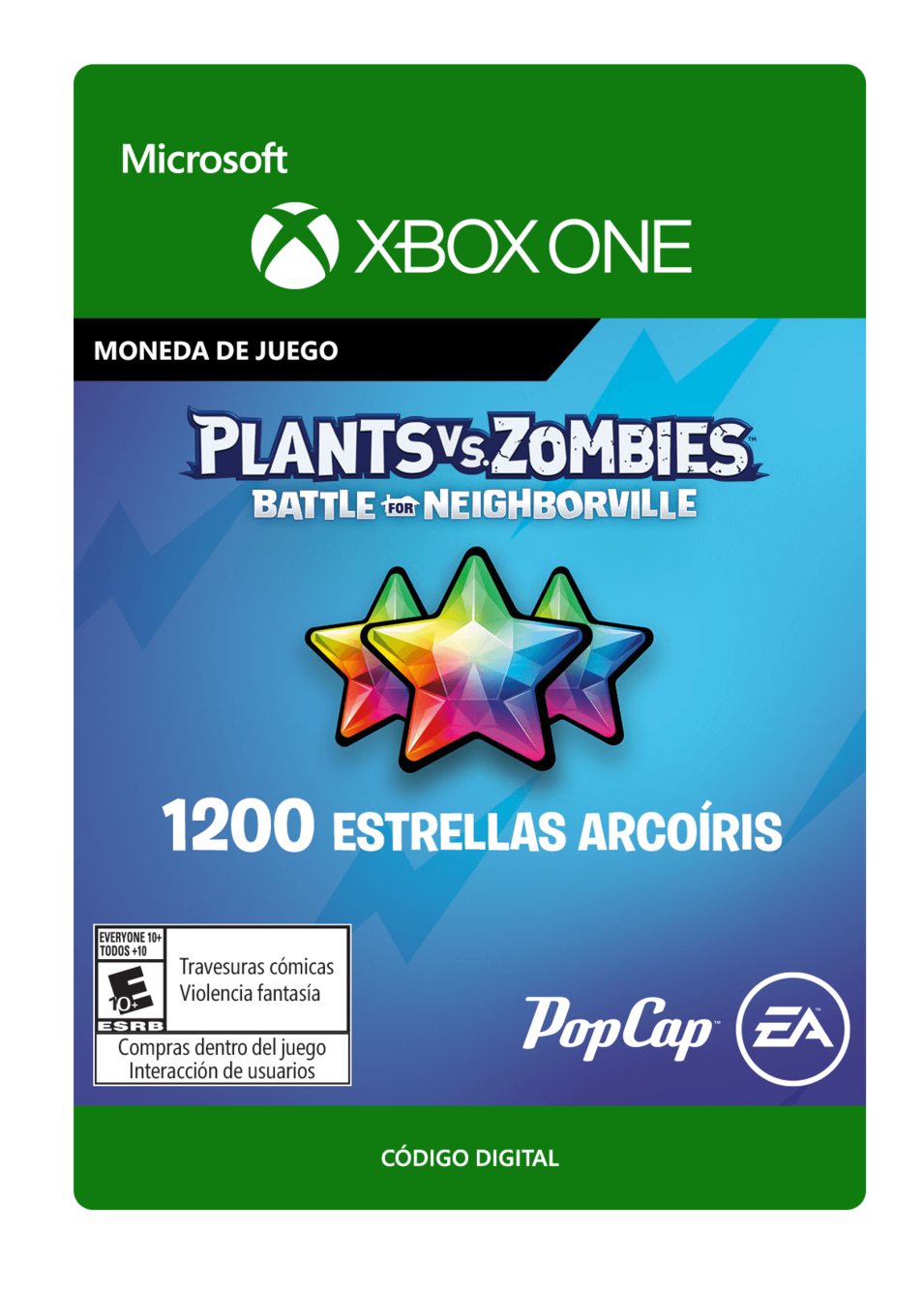 Plants vs. Zombies: Battle for Neighborville: 1200 Rainbow Stars Estrellas Arcoíris