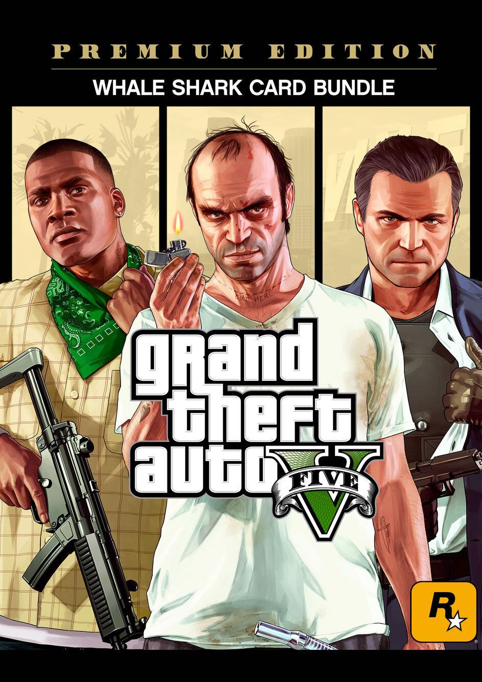 Grand Theft Auto V: Premium Online Edition & Whale Shark Card Bundle - Social club