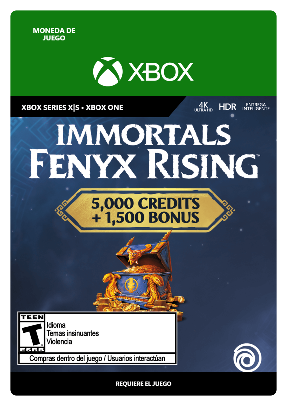 Immortals Fenyx Rising Overflowing Credits Pack 6500