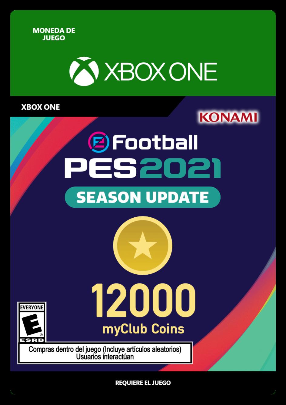 eFootball PES 2021 myClub coin 12000