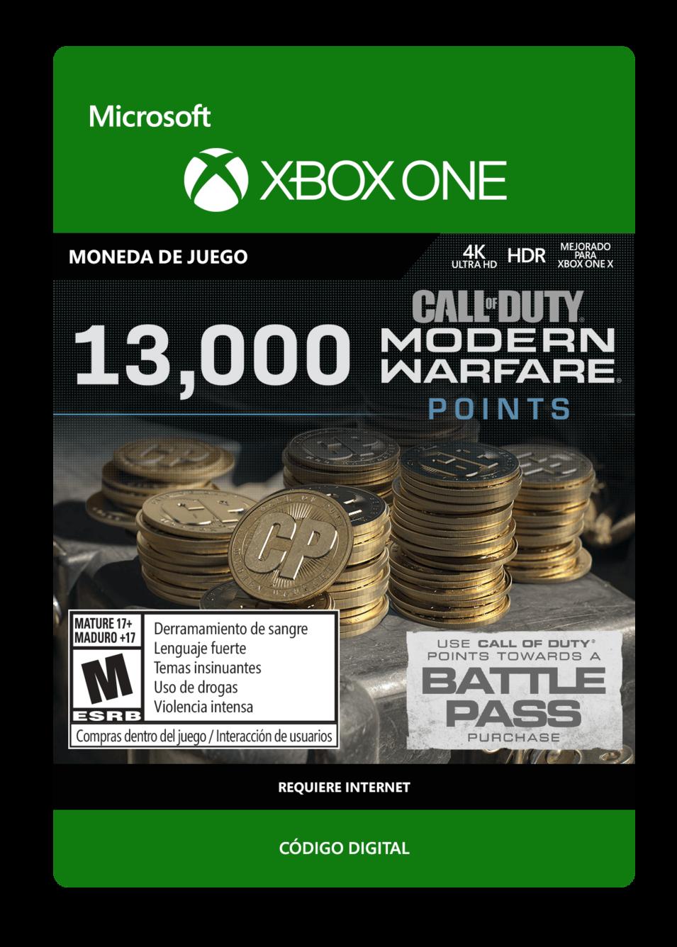 Call of Duty: Modern Warfare Points 13000 Puntos