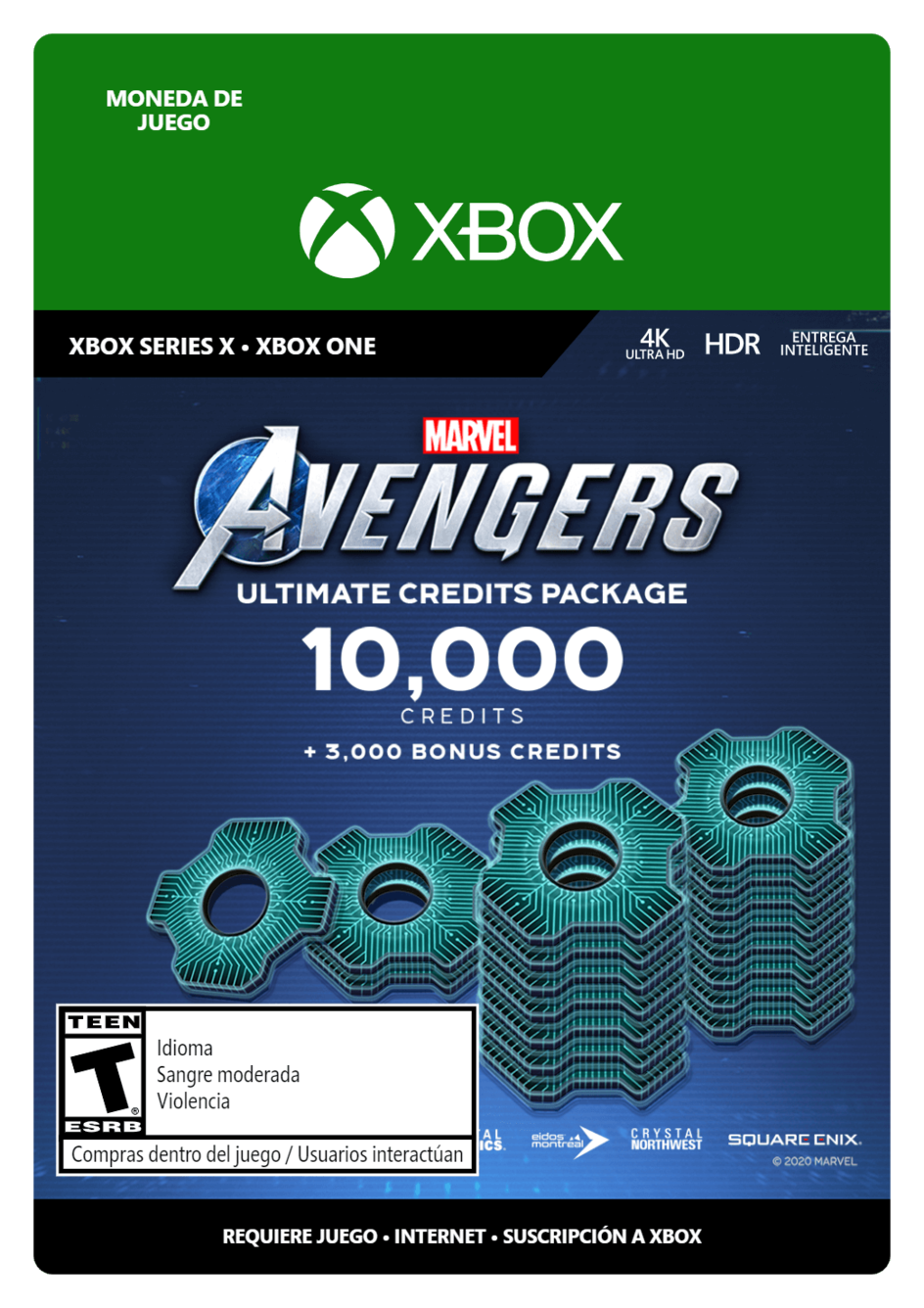 Marvel s Avengers: Ultimate Credits Package 13000 créditos
