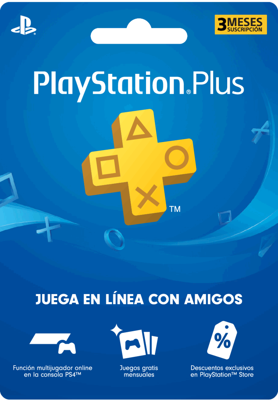 Membresía PlayStation Plus de 3 Meses