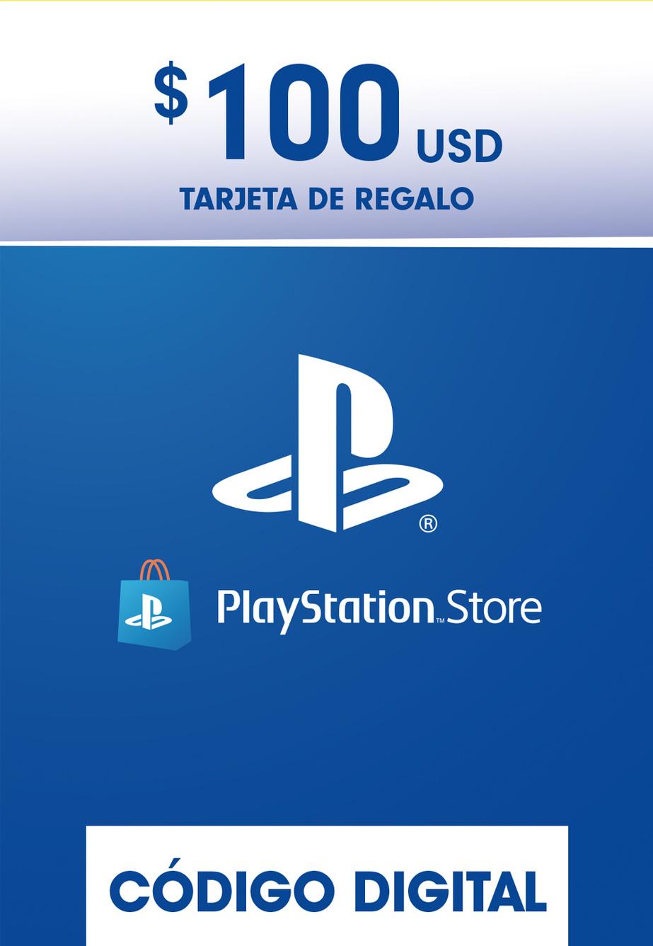 Tarjeta de Regalo PlayStation Store de 100 Dolares