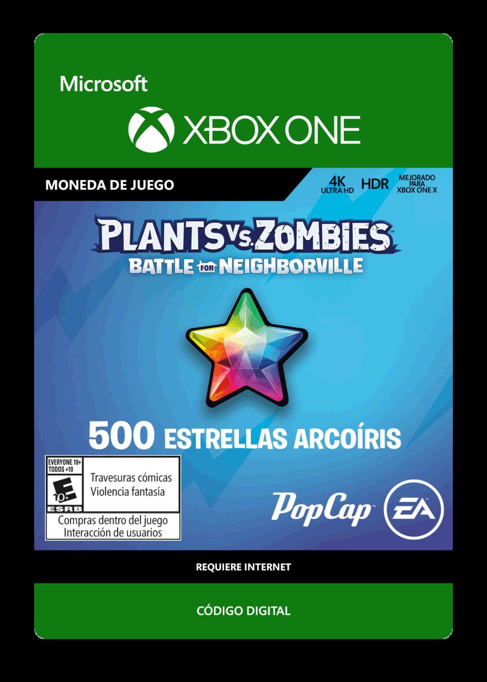 Plants vs. Zombies: Battle for Neighborville: 500 Rainbow Stars Estrellas Arcoíris