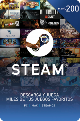 Código Steam Mex$200.00