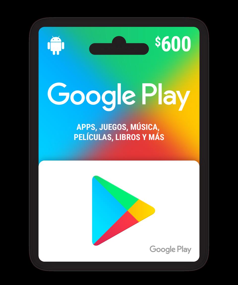 Saldo digital Google Play $600 MXN