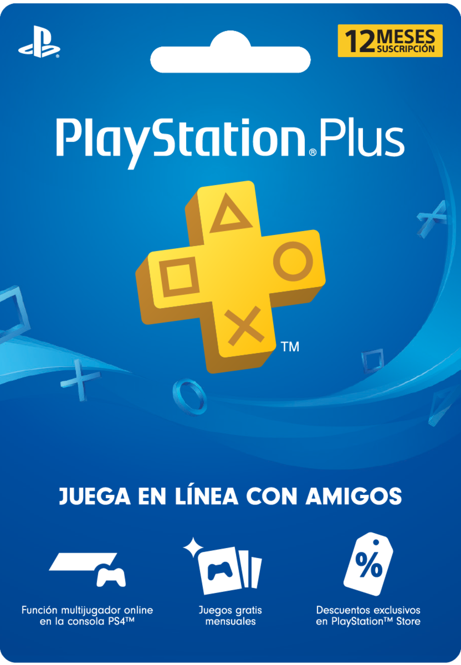 Membresía PlayStation Plus de 12 Meses