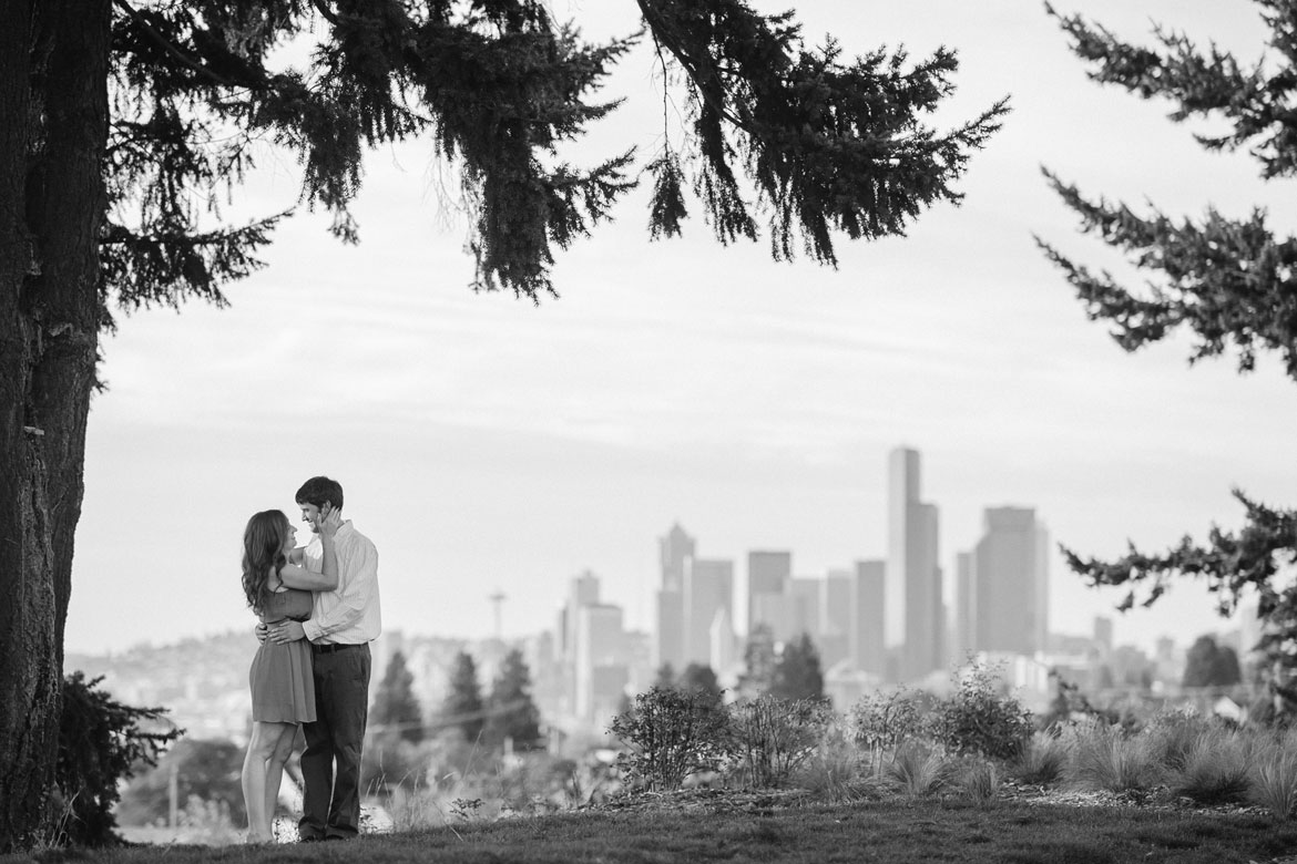 The Seattle skyline from Jefferson Park in North Beacon Hill, near where Clara and Josh have lived together for three blissful years.