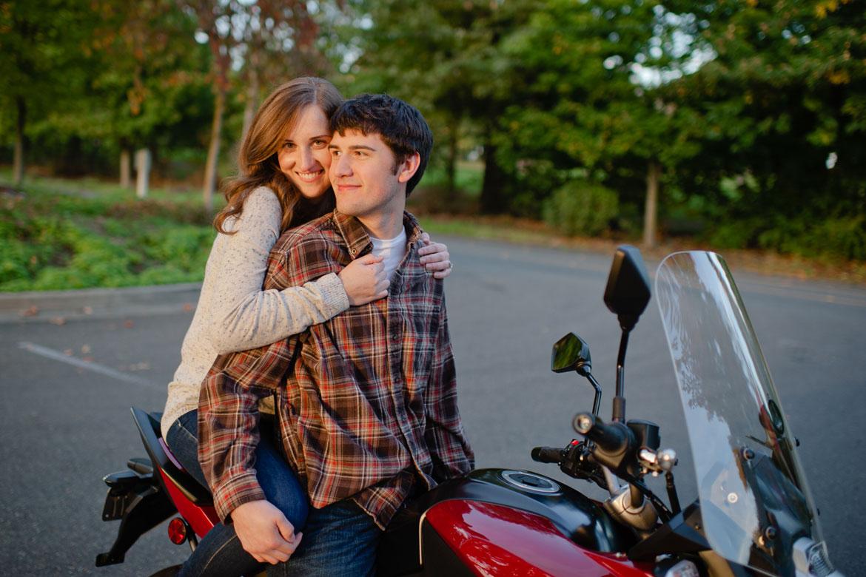 Clara Ganey & Joshua Lynch on their Kawasaki Versys in Seattle
