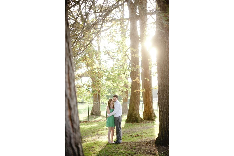 Clara Ganey & Joshua Lynch among the trees in Jefferson Park, Seattle