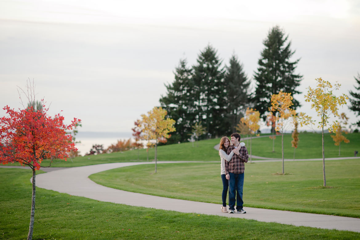 Clara Ganey & Joshua Lynch with the fall colors in Jefferson Park, Seattle
