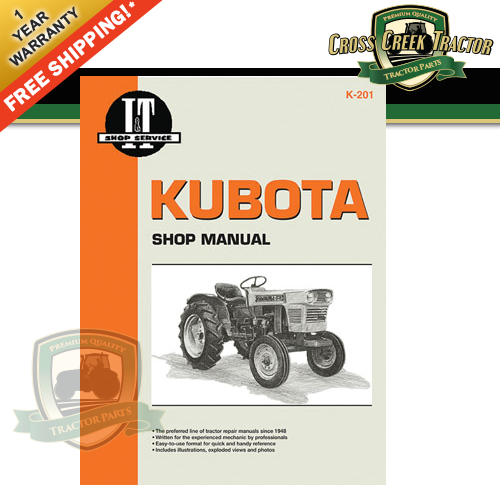 itk201 new shop manual for kubota models l175 l210 l225 l225dt rh ebay com Kubota L4740 Service Manual Kubota V1902 Manuals