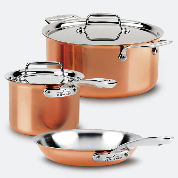 All-Clad D3 Stainless Steel Cookware
