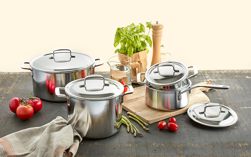 Demeyere 5-Plus Stainless Steel Cookware Set